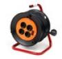 удлинитель силовой LUX К4-Е-40, 4 розетки, на катушке