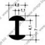 FZ P64 : Н-образный свинцовый профиль, 4,8 х 4,1 мм