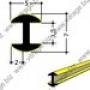 FZ 0635 : H-образный свинцовый профиль с латунным покрытием 3,5
